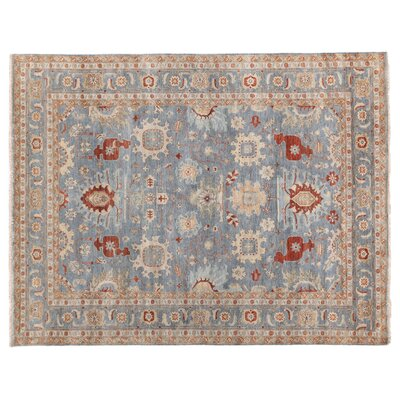 Fine Serapi Hand-Knotted Wool Blue/Beige Area Rug