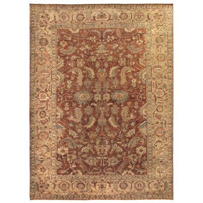 Serapi Hand-Knotted Wool Rust Area Rug Rug Size: Rectangle 12 x 15