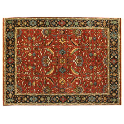 Serapi, New Zealand Wool, Rust/Navy (9x12) Area Rug