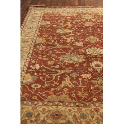 Fine Serapi, New Zealand Wool, Rust/Ivory Area Rug