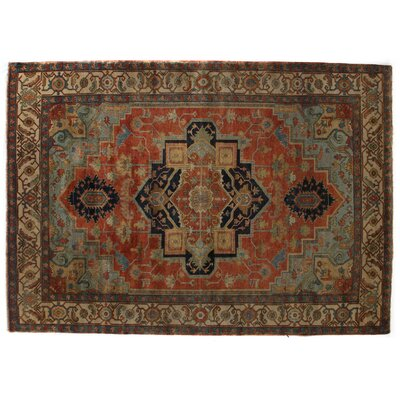 Serapi, New Zealand Wool, Red/Ivory Area Rug