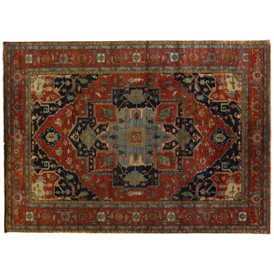 Serapi Hand-Knotted Wool Red/Rust Area Rug