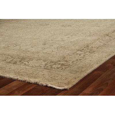 Fine Serapi Hand-Knotted Wool Beige Area Rug
