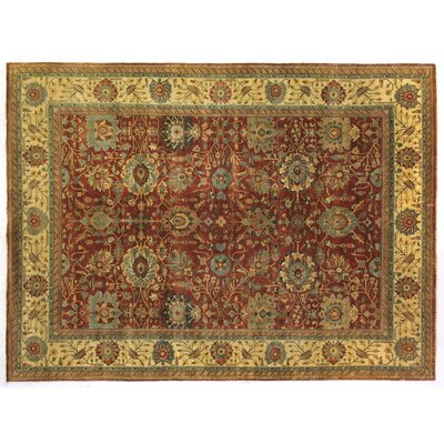 Serapi Hand-Knotted Wool Rust/Light Gold/Brown Area Rug Rug Size: Rectangle 9 x 12
