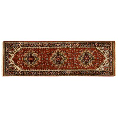 Serapi, New Zealand Wool, Rust/Black (8x10) Area Rug Rug Size: 26 x 8