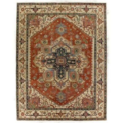 Serapi, New Zealand Wool, Red/Ivory (9x12) Area Rug Rug Size: 6 x 9