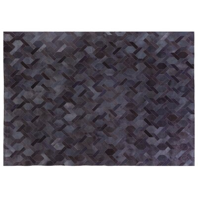 Natural Hide Hand-Tufted Cowhide Blue Area Rug Rug Size: 116 x 146