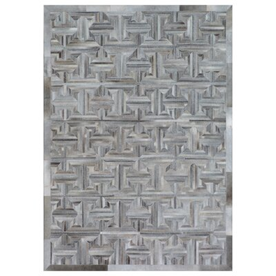 Natural Hide Hand-Tufted Cowhide Gray/Brown Area Rug Rug Size: Rectangle 116 x 146