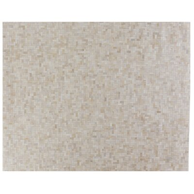 Natural Hide, Leather, Ivory/Natural/Multi (8x10) Area Rug