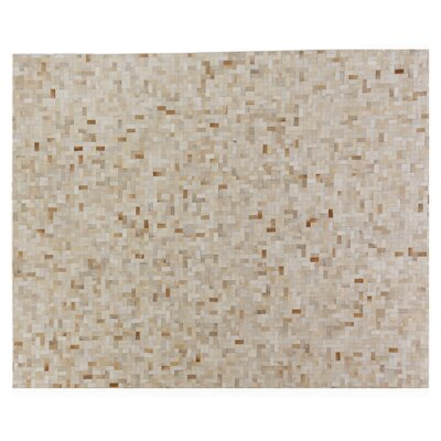 Natural Hide Hand-Tufted Cowhide Natural/Beige Area Rug Rug Size: Rectangle 8 x 10