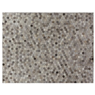 Natural Hide Hand-Tufted Cowhide Gray/Silver/Natural Area Rug Rug Size: 8 x 11