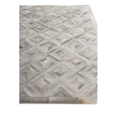 Natural Hide Hand-Woven Silver Area Rug