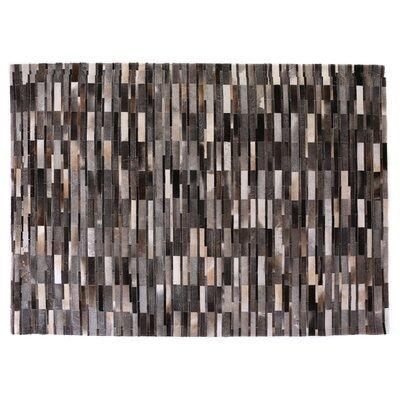 Natural Hide, Leather, Dark Gray/Multi (136x176) Area Rug
