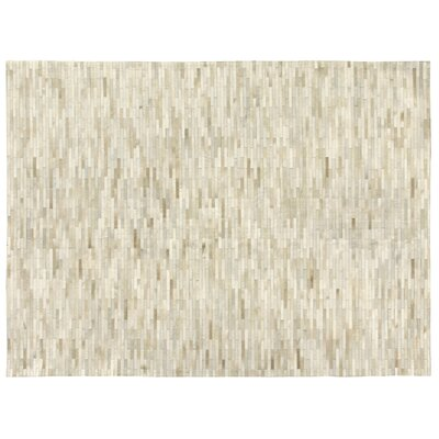 Natural Hide, Leather, Beige/Brick/Ivory/Multi (96x136) Area Rug Rug Size: 96 x 136