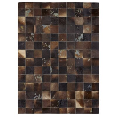 Natural Hide Hand-Tufted Cowhide Black/Brown Area Rug