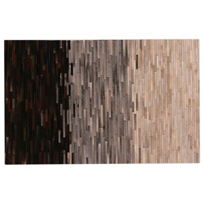 Natural Hide, Leather, Brown/Gray/Ivory/Multi Area Rug