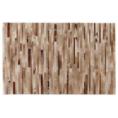 Natural Hide Hand-Tufted Cowhide Brown/Ivory Area Rug