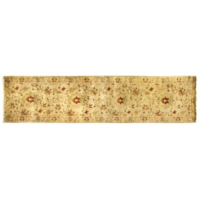 Agra Hand-Knotted Wool Ivory Area Rug