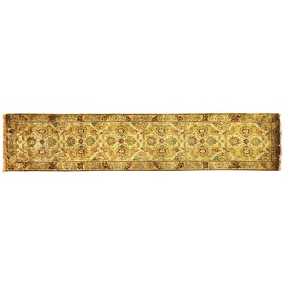 Polonaise, New Zealand Wool, Cream/Beige (26x8) Runner Rug Size: Runner 26 x 12