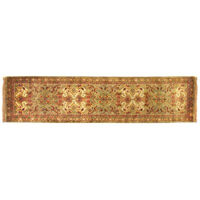 European Polonaise Hand-Knotted Wool Beige/Peach Area Rug