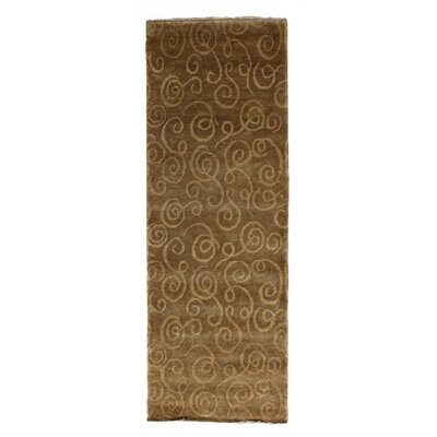 Metropolitan, New Zealand Wool, Gold, (26x8) Runner Rug Size: Runner 26 x 12