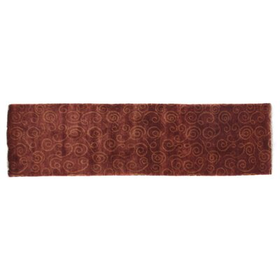 Metropolitan Hand-Knotted Wool Rust/Gold Area Rug Rug Size: Runner 26 x 10