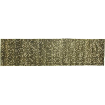 Metropolitan, New Zealand Wool, Sage Green, (26x8) Runner Rug Size: Runner 26 x 8