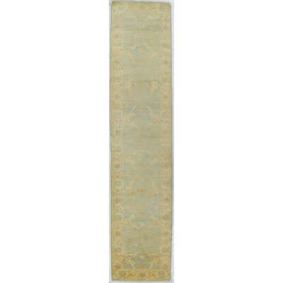 Oushak Hand-Knotted Wool Blue/Ivory Area Rug