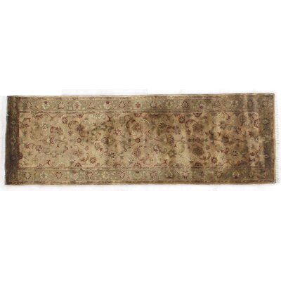 Super Kashan Hand-Knotted Wool Cream/Sage Area Rug