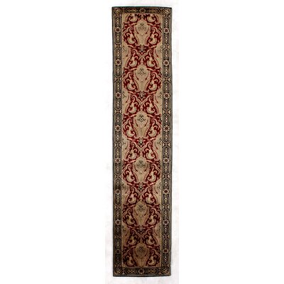 Tibetan Weave, New Zealand Wool, Red/Gold (26x12) Runner Rug Size: Runner 26 x 12