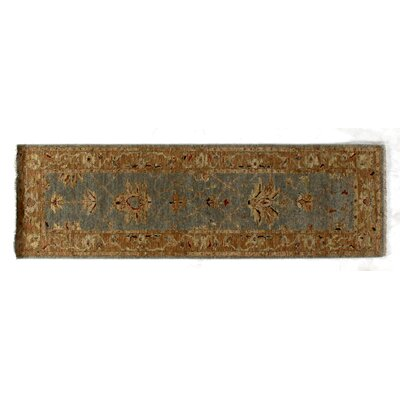 Ziegler, New Zealand Wool, Blue/Chocolate (26x8) Runner