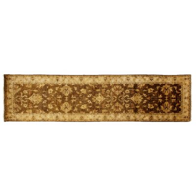 Ziegler Hand-Knotted Wool Beige/Ivory Area Rug Rug Size: Runner 26 x 8