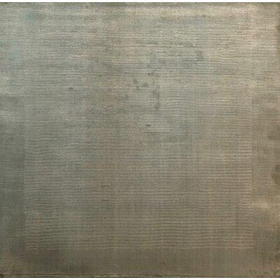 Cut Dove, Art Silk, Light Green (3 Square) Rug