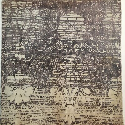 Koda Hand-Knotted Purple Area Rug Rug Size: Rectangle 3x4