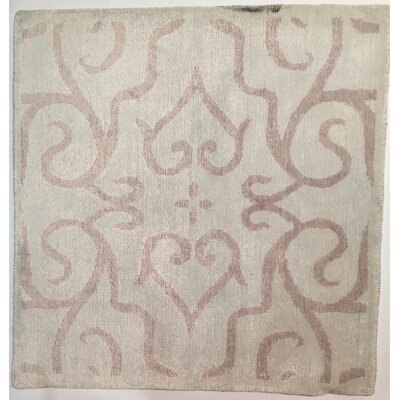 Hand-Knotted Light Pink Area Rug