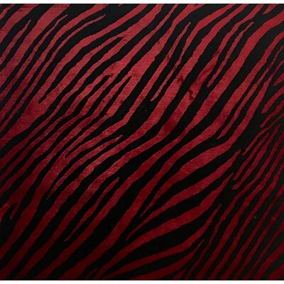 Metro-Velvet Hand- Knotted Black/Red Area Rug