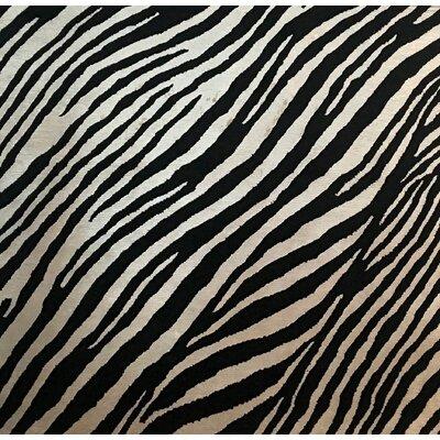 Metro-Velvet, Rayon from Bamboo Silk, Black/White (3 Square) Rug
