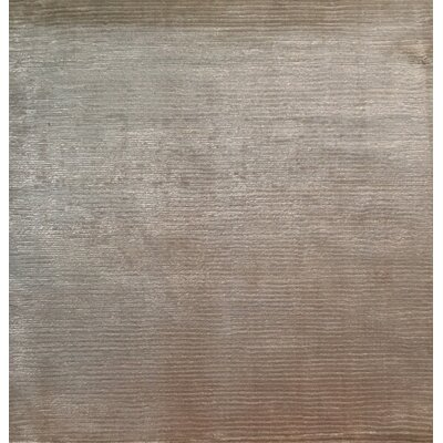 Courduroy, Art Silk, Beige (3 Square) Area Rug