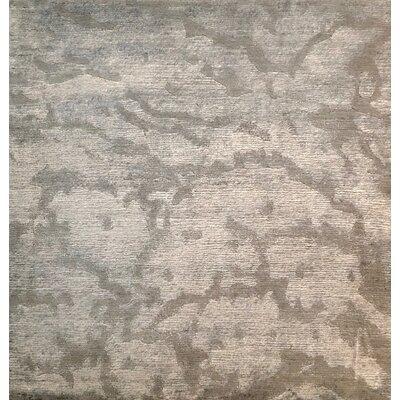 Metro-Velvet Hand-Knotted Gray Area Rug