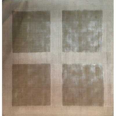 High Low, Art Silk, Silver (3 Square) Rug