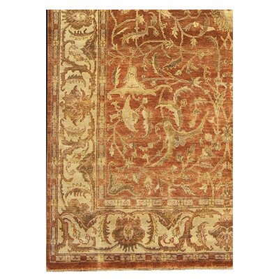 Sultanabad Hand Woven Wool Rust/Ivory Area Rug Rug Size: Rectangle 12' x 15'