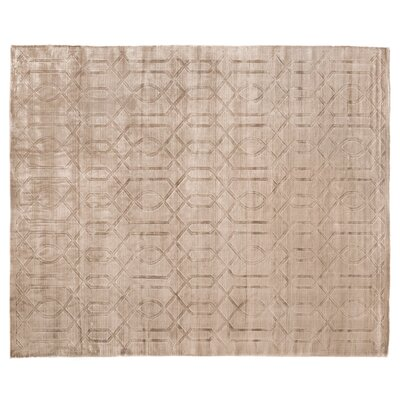 Smooch Hand Woven Silk Dark Gray Area Rug Rug Size: Rectangle 8' x 10'