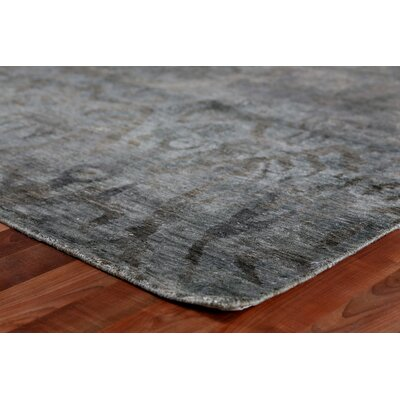 Hand Woven Silk Aqua Area Rug Rug Size: Rectangle 10 x 14