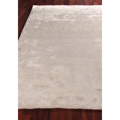Hand Woven Silk Ivory Area Rug Rug Size: Rectangle 8 x 10