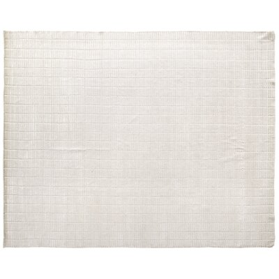 Mini Bars Hand Woven Silk White Area Rug Rug Size: Rectangle 4 x 6