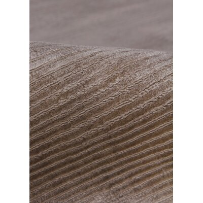 Hand Woven Silk Light Silver Area Rug Rug Size: Rectangle 5 x 8