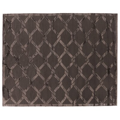 Metro Hand Woven Silk Brown Area Rug Rug Size: Rectangle 9 x 12