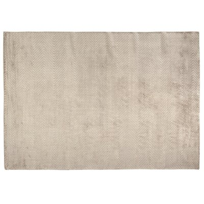 Hand Woven Silk Silver Area Rug Rug Size: Rectangle 14 x 18