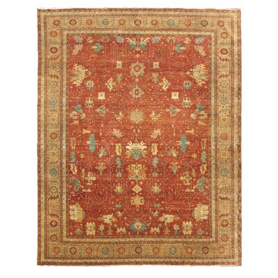 Serapi Hand Woven Wool Red/Gold Area Rug Rug Size: Rectangle 9 x 12