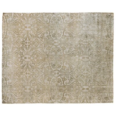 Koda Hand Woven Silk Light Beige Area Rug Rug Size: Rectangle 10 x 14
